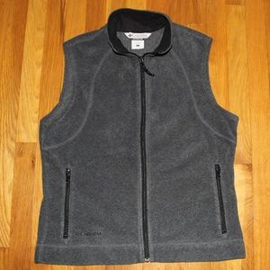 Columbia Gray Fleece Vest Women's L